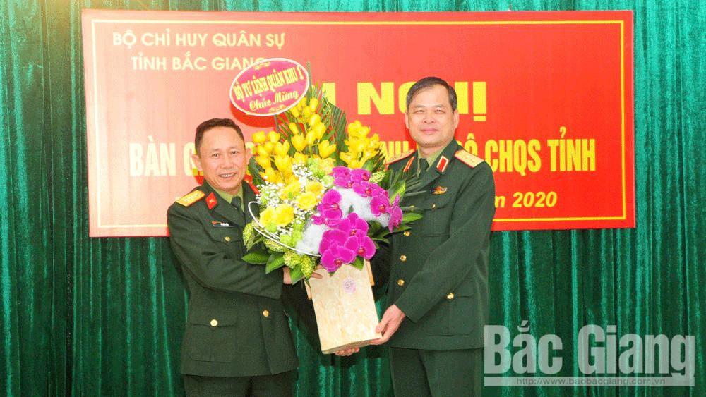 Đại tá Vũ Đức Hiền được bổ nhiệm giữ chức Chính ủy Bộ CHQS tỉnh Bắc Giang